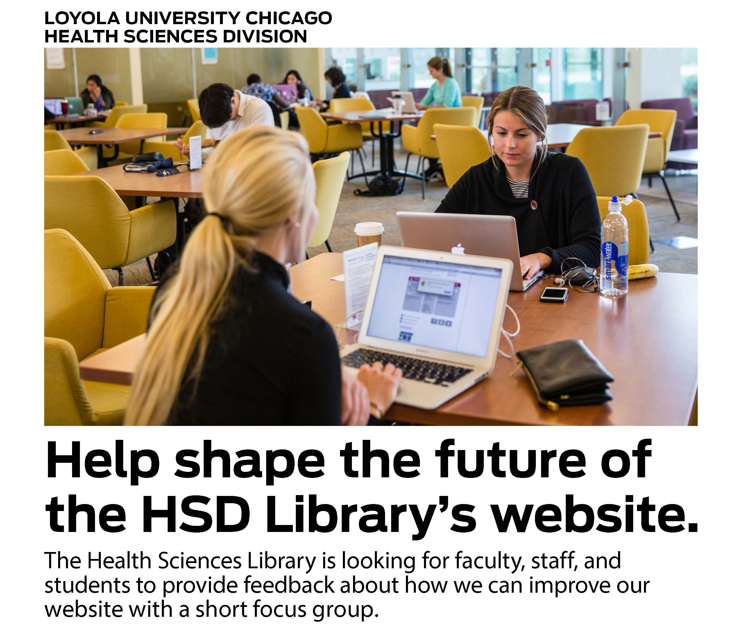 loyola university health sciences library hsd library website focus groups